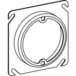 "Orbit Industries 43075 4"" Square Cover, 3/4"" Raised, Ears 2-3/4"" O.C."