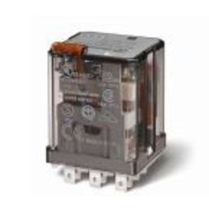 Finder Relays 62.32.8.120.0040 Relay, Ice Cube, 16A, 8-Blade, 2PDT, 120VAC Coil, w/ Options