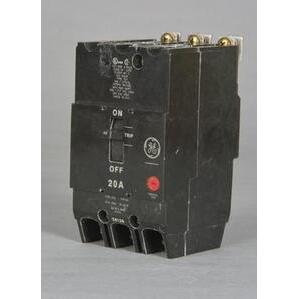 GE Industrial TEY325 Breaker, Bolt On, 25A, 480/277VAC, 3P, Molded Case, 14kAIC