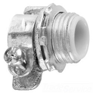 "Cooper Crouse-Hinds 1708 Flex Connector, Type: Squeeze, Insulated, Size: 1/2"", Malleable Iron"