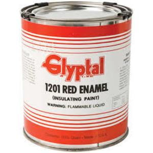 Glyptal 1201-QT Acrylic Enamel Brush-On Paint, 1 Quart Can, Red