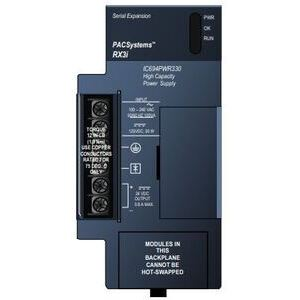 GE IC694PWR330 Power Supply, Remote, 120/240VAC, 125VDC, Input, 5VDC Output, 30W