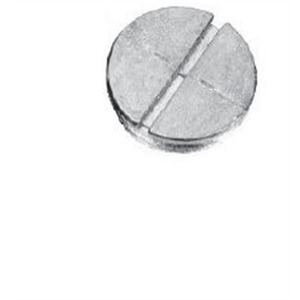 "Cooper Crouse-Hinds TP7944 Closure Plug, Weatherproof, Diameter: 3/4"", Zinc"