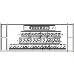 GE Industrial IC693ACC337 Terminal Block Base, Interposing, for IC693MDL654/655/752/753