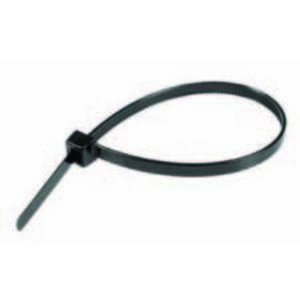 "Topaz BT0840 Cable Tie, 8"" Long, UV Rated Nylon, Black, 40lb Rating, 100/PK"
