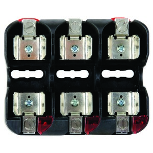 Littelfuse LFJ60060-3CID Fuse Block, 60A, 600VAC, Class J, 3P, With Indication, Box Lug