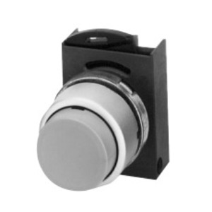 GE P9CPNBS Push Button, 22.5mm, White, Extended Head, Chrome, Operator Only