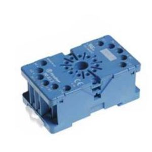 Finder Relays 90.83.3 Socket, 11-Pin, Box Clamp Terminal, for #60.13 Relay, Blue