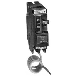 GE Industrial THQL1115GF Breaker, 15A, 1P, 120V, 10 kAIC, Q-Line Ground Fault