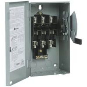Eaton DG321NGB Safety Switch, 30A, 3P, 240V, Type DG, Fusible, NEMA 1