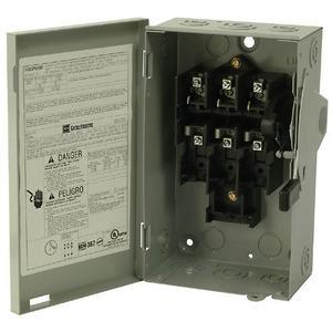 Eaton DG221UGB Safety Switch, 30A, 2P, 240V,Type DG, Non-Fusible, NEMA 1
