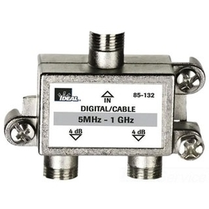Ideal 85-133 Splitter, 3-Way, Video, 5 MHz - 1 GHz, Screw Mount