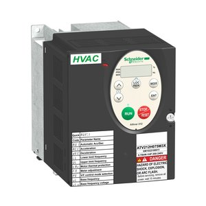 Square D ATV212HU15M3X AC Drive, Altivar, 7.5A, 2HP, IP20, Size 1A, 208-240VAC, 1.5kW