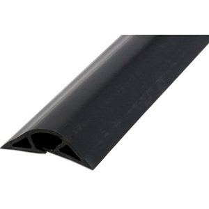 "Wiremold BK1400-5 Overfloor Raceway, 1400 Series, Non-Metallic, Black, 3"" x 5'"