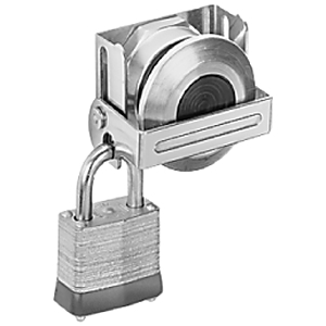 Allen-Bradley 800T-N314 Pushbutton, Push-Pull Padlocking Attachment, 30mm, Stainless Steel
