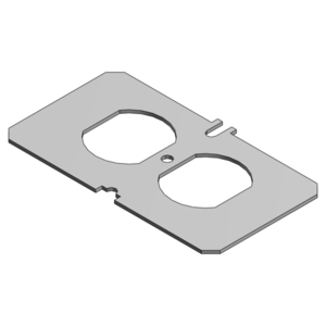 Steel City P-60-Q Receptacle Plate For Recessed Service Floor Box, Steel