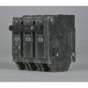 GE Industrial THQL32020 Breaker, 20A, 3P, 120/240V, 10 kAIC, Q-Line Series