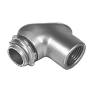 "Bridgeport Fittings 71-DC2 Pulling Elbow, Gasketed, Threaded, 1/2"", 90°, Zinc Die Cast"