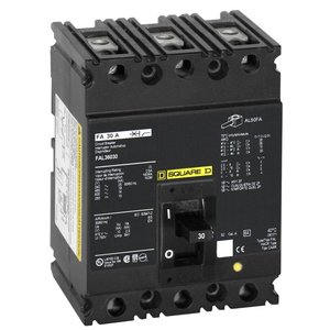 Square D FAL34100 Breaker, Molded Case, 3P, 100A, 480VAC, 250VDC, F Frame