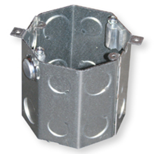 "Cooper Crouse-Hinds TP622 4"" Octagon Concrete Box, 2-1/2"" Deep, 1/2 - 3/4"" KOs, Steel"
