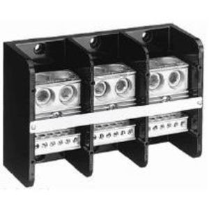 Allen-Bradley 1492-PD32127 Distribution Block, 760A, 600V AC/DC, 3P, Aluminum, 2 In/12 Out