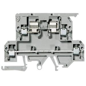 Allen-Bradley 1492-JD3FB Terminal Block, 10A Fused, 20A, 300V AC/DC, 2 Level, Gray, 4mm
