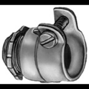 Bridgeport Fittings 412 Flex Connector, Squeeze, Straight, 1-1/4 Inch, Malleable Iron
