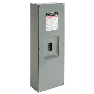 Square D Q23225NS Breaker Enclosure, 100-225A, 3P, Type Q, 240VAC, NEMA 1, Surface