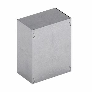 "Cooper B-Line 12128-SCGV-NK Junction Box, NEMA 1, Screw Cover, 12"" x 12"" x 8"", No KO, Steel"