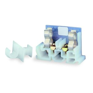 Square D 9080GF6 Terminal Block, Fuse Holder, 30A, 600VAC, 18-10AWG, White