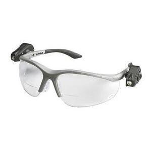 3M 11478-00000-10 Reader Protective Eyewear, 2.0 Bifocal Clear Lens, Gray Frame w/ LED Lights