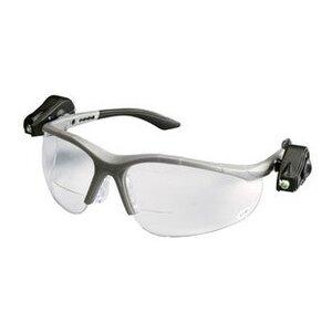 3M 11477-00000-10 Protective Eyewear with LED, Half-Frame, Gray,Anti-Fog Lens