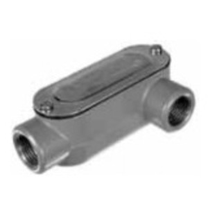 "Topaz LL1CG Conduit Body, Type LL, 1/2"", Cover/Gasket, Aluminum"