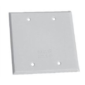 Cooper Crouse-Hinds TP7296 Weatherproof Cover, 2-Gang, Vertical/Horizontal, Blank, Die Cast