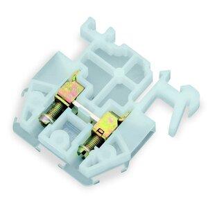 Square D 9080GM6 Terminal Block, Feed Through, 30A, 600VAC, 6mm, White, Box Lug
