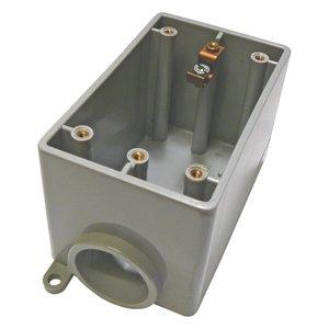 """Cantex 5133300 FD Device Box, 1-Gang, 1/2"""", PVC"""