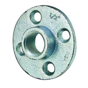 "Dottie FF50 Floor Flange, Threaded, 1/2"", Malleable Iron"