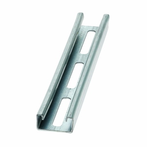 "Cooper B-Line B54S-120GLV Channel with 3"" Slots, Steel, Pre-Galvanized, 1-5/8"" x 13/16"" x 10'"