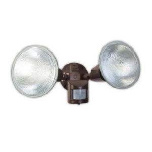 Designers Edge L5999BR Flood Light, with Motion Sensor, 120W, 120V, Brown