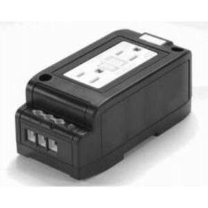 Acme DRR15GFI Receptacle, Duplex, GFCI, DIN Rail Mounted, 15A, 120VAC, Touch Proof