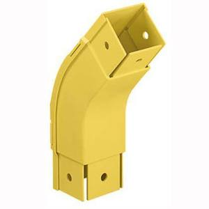 "Panduit FOV452X2YL Outside Vertical 45° Fitting, for 2"" x 2"" Fiber-Duct, Yellow"