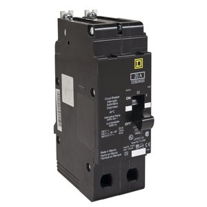 Square D EGB24020 Breaker, Bolt On, 2P, 20A, 480Y/277VAC, 35kAIC, Thermal Magnetic