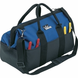"""Ideal 35-427 Large Mouth Tool Bag, 9"""" Width, 12"""" Depth"""