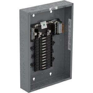 Square D QO124L125G Load Center, Main Lug Only, 125A, 12/12, 120/240VAC, 65kAIC, NEMA 1