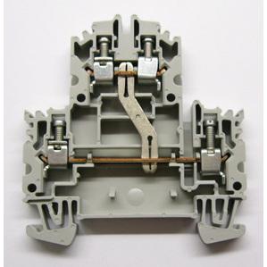 Allen-Bradley 1492-JD4C Terminal Block, 2 Circuit, 35A, 600V AC/DC,  Gray, 4mm