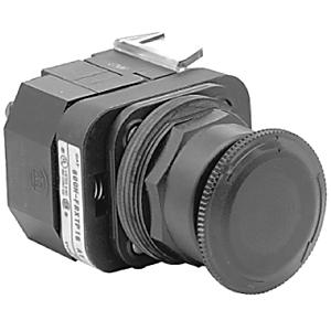 Allen-Bradley 800H-FRXTQ24RA1 Push Button, Mushroom Head, Red, Push-Pull/Twist Release, 24V AC/DC