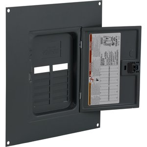 Square D QOC12US Load Center Cover with Door, Indoor, Surface Mount
