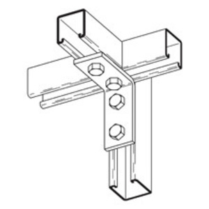 Cooper B-Line B104ZN Four Hole Corner Angle, Steel, Zinc Plated