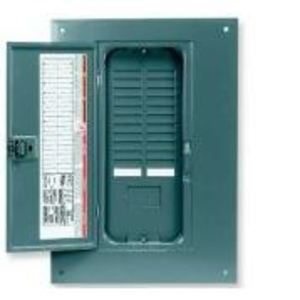 Square D QOC24UF Load Center, Cover with Door, NEMA 1, Flush Mount, 16/24 Circuit