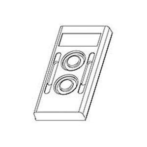 Woodhead 00-3063 2 Button Replacement Cvr 4022pbstation